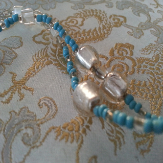 Blue Frost - Love Beads Handmade by Kinzie