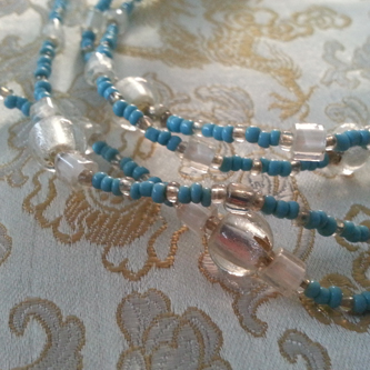 Blue Frost - Love Beads Handmade by Kinzie